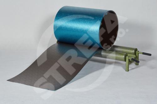 PREFA hliníkový plech Prefalz 0,70 x 1000 mm Oříšková P.10 stucco (RAL8019)