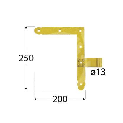 Závěs okenicový jednoduchý ZN 250 d13 DMX