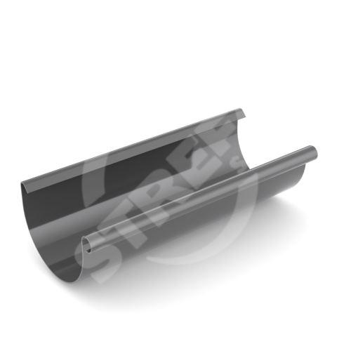 Žlab, okap plastový Ø 100 mm, délka 4M, Antracit RAL 7021