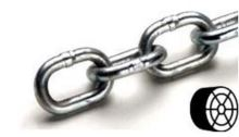 Řetěz DIN 5685A cívka 4,0mm, ZB polodlouhý článek