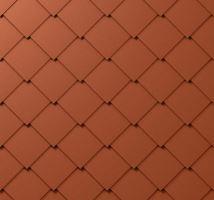 Střešní šablona, 44 x 44 mm stucco, Cihlově červená P.10