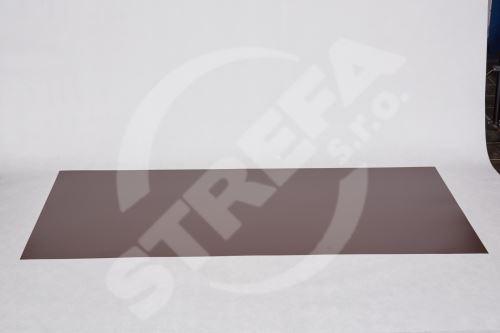 Tabule český hliník 0,6x1000x2000  lak. s fólií Hnědá (RAL 8017)