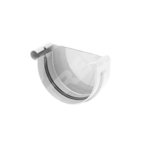 Čelo žlabu LEVÉ plastové Ø 125 mm, Bílá RAL 9010