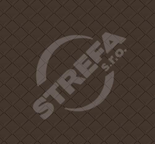PREFA falcovaná šablona 29x29, povrch stucco, Vojenská hnědá - khaki P.10