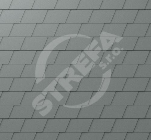 PREFA falcovaná šindel, povrch stucco, Světle šedá P.10