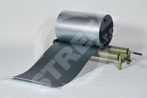 PREFA hliníkový plech Prefalz 0,70 x 1000mm Antracit P.10 stucco ( RAL7016)