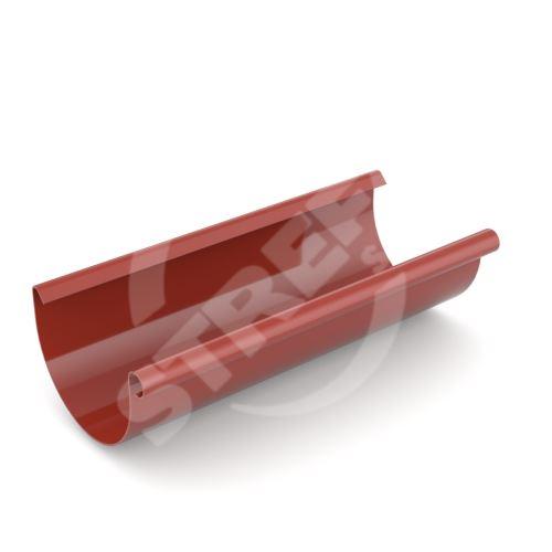 Žlab, okap plastový Ø 125 mm, délka 3M, Červená RAL 3011