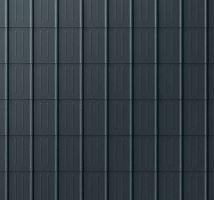 Falcovaná taška, povrch stucco, Černá P.10
