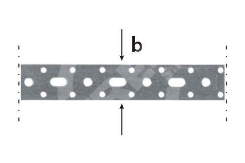 Páska montážní TM 4/10, 25x1,5x10bm zinkovaný plech