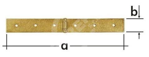 Závěs stavební Z 100c DMX, 100x45x1,5mm zinek galvanický