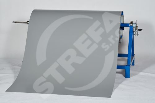 PREFA clr plech ve svitku 0,7 x 1000mm + folie, Světle šedá/Světle šedá (RAL7005)