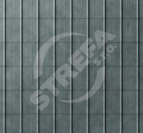 PREFA falcovaná taška, povrch stucco, Břidlicová P.10