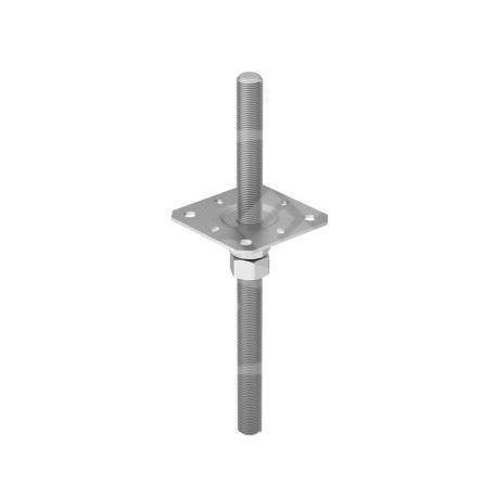 Patka sloupku stavitelná PPSR 130, rozměr 130x330, zinek galvanický