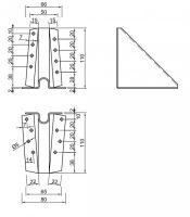 Podpěra BV/P 05-41/120, 120mm, ZAR statická s otvory
