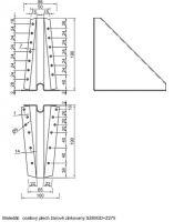 Podpěra BV/P 05-43/200, 200mm, ZAR statická s otvory