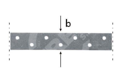 Páska montážní TM 1/10, 25x1,5x10bm zinkovaný plech