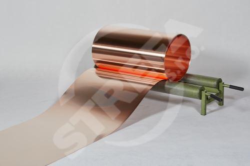 Měděný plech ve svitku 0,55 x 1000 mm, tl. 0,55 mm