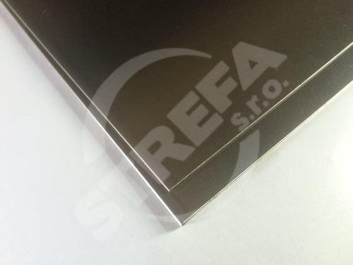 Plech ocelový černý 0,8 mm, tabule