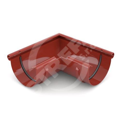 Roh žlabu vnější plastový Ø 75 mm, Červená RAL 3011