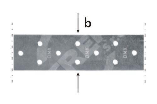 Páska montážní TM 2/25, 40x2,0x25bm zinkovaný plech