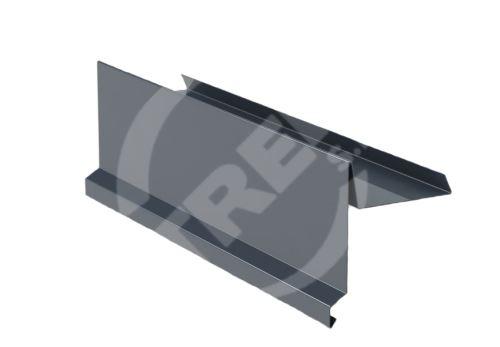 Závětrná lišta r.š.250mm, CLR, oboustraně barevný plech, Antracitová