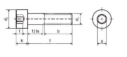Šroub DIN 912 8.8 M3 x 6 ZB s vnitřním šestihranem