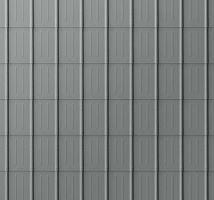 Falcovaná taška, povrch stucco, Světle šedá P.10