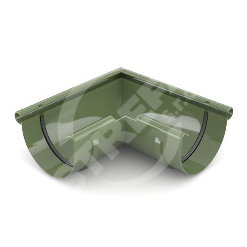 Roh žlabu vnější plastový Ø 75 mm, Zelená RAL 6020