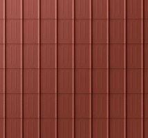 PREFA falcovaná taška, povrch stucco, Tmavě červená P.10