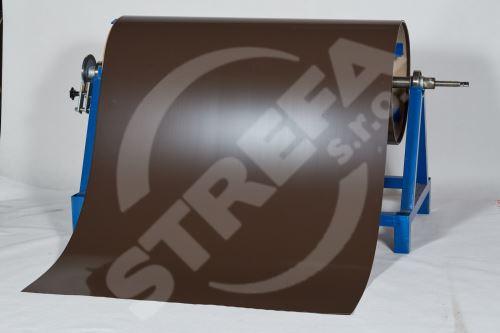 Pozinkovaný plech ve svitku 0,5 x 1250 mm, Tmavě hnědá (RAL 8019)