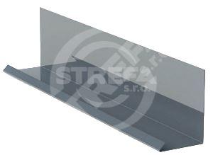 Lemování zdí r.š.200mm v kombinaci s krycí lištou, Lakovaný pozinkovaný plech s folií, Antracitová (RAL 7016)