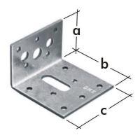 Úhelník stavitelný KR 2, 60x40x60x2,5 zinkovaný plech