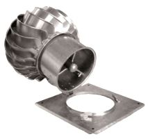 Hlavice odklápěcí nerez Turbowent 250mm