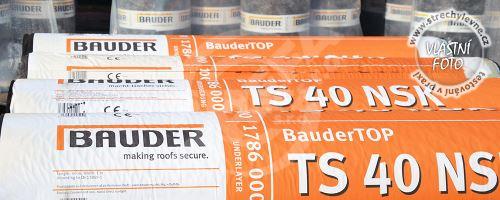 Asfaltový SBS modifikovaný nedifůzní podkladový pás Bauder Top TS 40 NSK