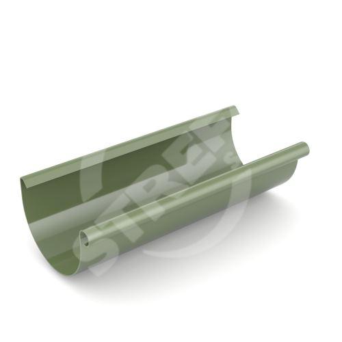 Žlab, okap plastový Ø 75 mm, délka 3M, Zelená RAL 6020
