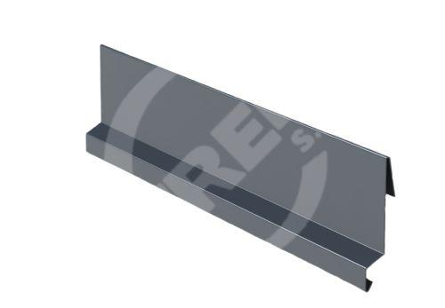 Závětrná lišta r.š. 167mm-zahakovací, Lakovaný pozinkovaný plech s folií, Antracitová (RAL 7016)