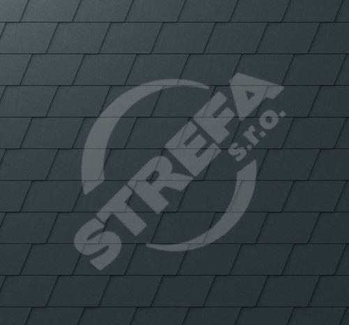 PREFA falcovaný šindel DS.19, povrch stucco, Černá P.10