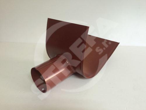 PREFA šikmé vyústění žlabu, 280, 333 x ø 100 mm