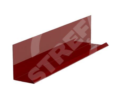Lemování zdí r.š.250mm v kombinaci s krycí lištou, Prefalz, stucco, Tmavě červená P.10