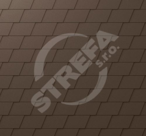 PREFA falcovaný šindel DS.19, povrch stucco, Vojenská hnědá - khaki P.10