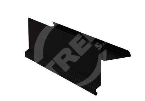 Závětrná lišta r.š.250mm, Lakovaný pozinkovaný plech s folií, Černá (RAL9005)