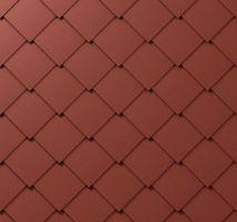 PREFA střešní šablona, 44 x 44 mm stucco, Tmavě červená P.10
