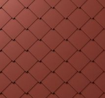 Střešní šablona, 44 x 44 mm stucco, Tmavě červená P.10