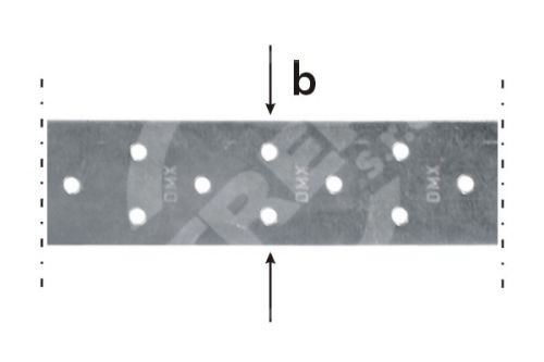 Páska montážní TM 2/10 DMX 40x2,0x10bm zinkovaný plech