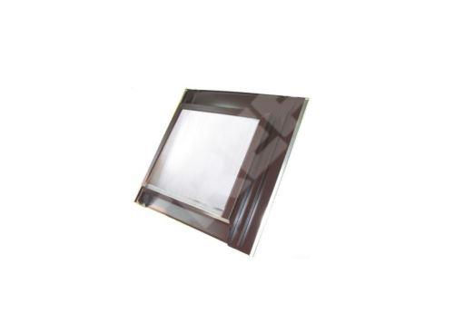 Střešní hliníkový vikýř s makrolonem, 600 x 600, hnědý