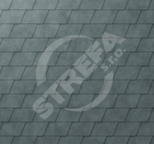 PREFA falcovaná šindel, povrch stucco, Břidlicová P.10