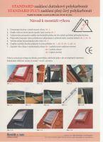 Střešní vikýř hliníkový s makrolonem, 600 x 600, antracit