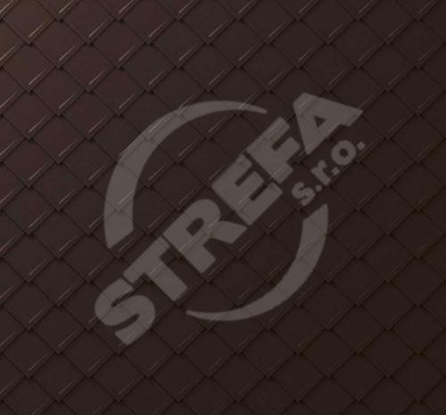 PREFA falcovaná šablona, povrch stucco, Oříšková P.10