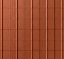 Falcovaná taška, povrch stucco, Cihlově červená P.10