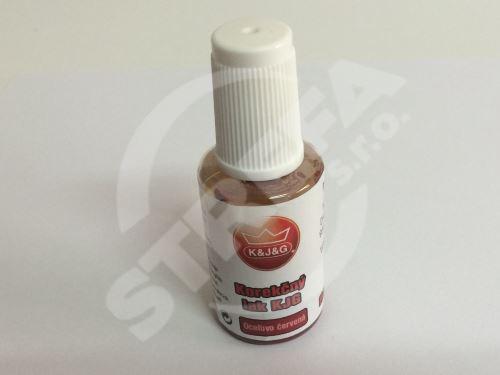 Opravná barva pro lakovaný pozink KJG 20ml,  Ocelově červená RAL 3009